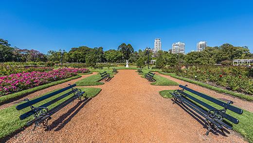 Rosedal, Parque de Palermo, Buenos Aires.