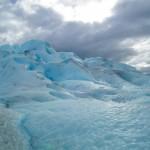 Durante o trekking no Glaciar Perito Moreno.