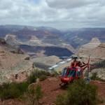 A precisão do helicóptero na hora de um resgate.
